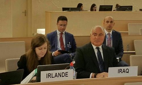 الممثل الدائم في جنيف يلقي كلمة في مجلس حقوق الانسان حول فلسطين