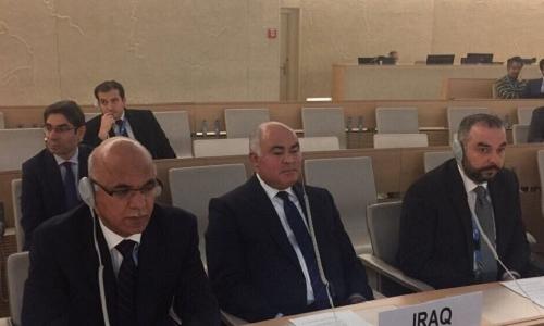 الممثل الدائم لجمهورية العراق لدى الأمم المتحدة في جنيف يشارك  في الاحتفال السنوي بمناسبة اليوم الدولي للتضامن مع الشعب الفلسطيني
