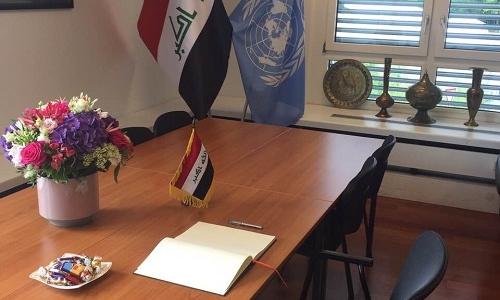 الممثلية الدائمة تفتح سجل للتهاني في مقرها بمناسبة النصر العظيم وتحرير مدينة الموصل والقضاء على المجموعات الارهابية